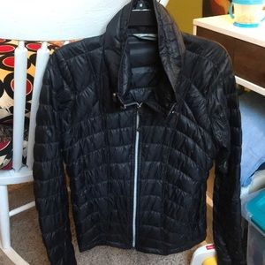 Athleta light weight down jacket with high collar